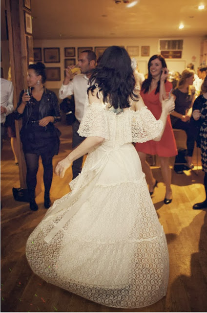 1970s vintage lace wedding dresses c Heavenly Vintage Brides vintage wedding blog 2013