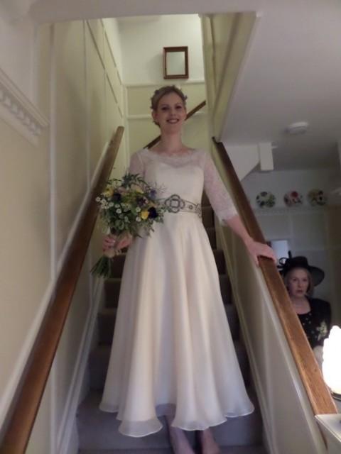 1950s-Vintage-Wedding-Dress-Chantilly-on-Josie-2
