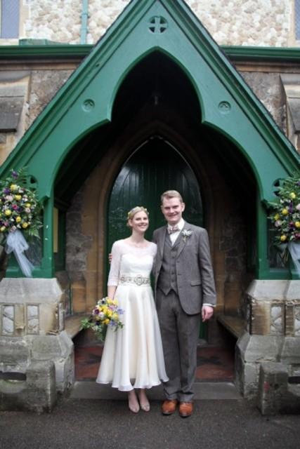 1950s-Vintage-Wedding-Dress-Chantilly-on-Josie-3
