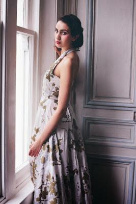 Helena's own 1950s vintage inspired dress for HVB vintage wedding blog