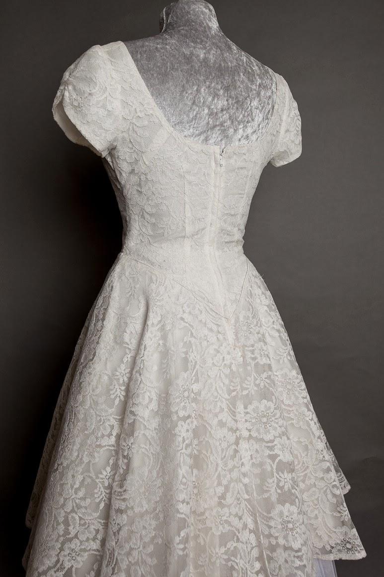 1950s lace wedding dress, c Heavenly Vintage Brides