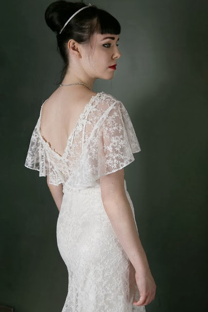 HVB vintage wedding blog, lace wedding dresses feature
