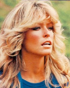 Heavenly Vintage Wedding Blog: vintage-inspired hairstyles, Farah Fawcett with tumbling curls