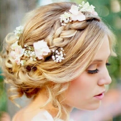 Heavenly Vintage Wedding Blog: vintage-inspired hairstyles, 1970s style braids