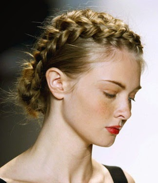 Heavenly Vintage Wedding Blog: vintage-inspired hairstyles, 1970s style braids