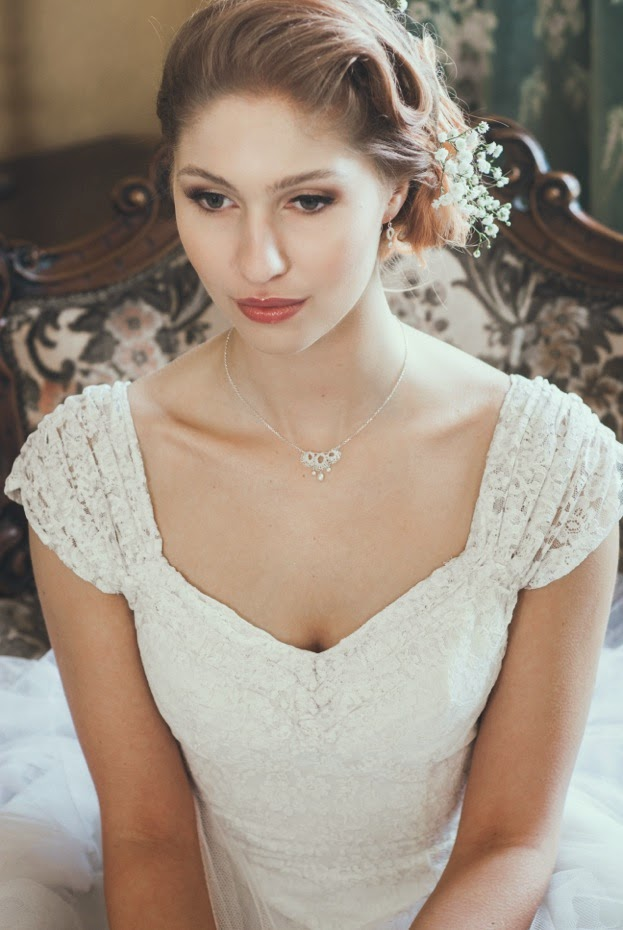 Heavenly Vintage Wedding Dresses and Judith Brown jewellery