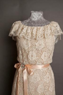 A guide to vintage lace wedding dresses, c Heavenly Vintage Brides