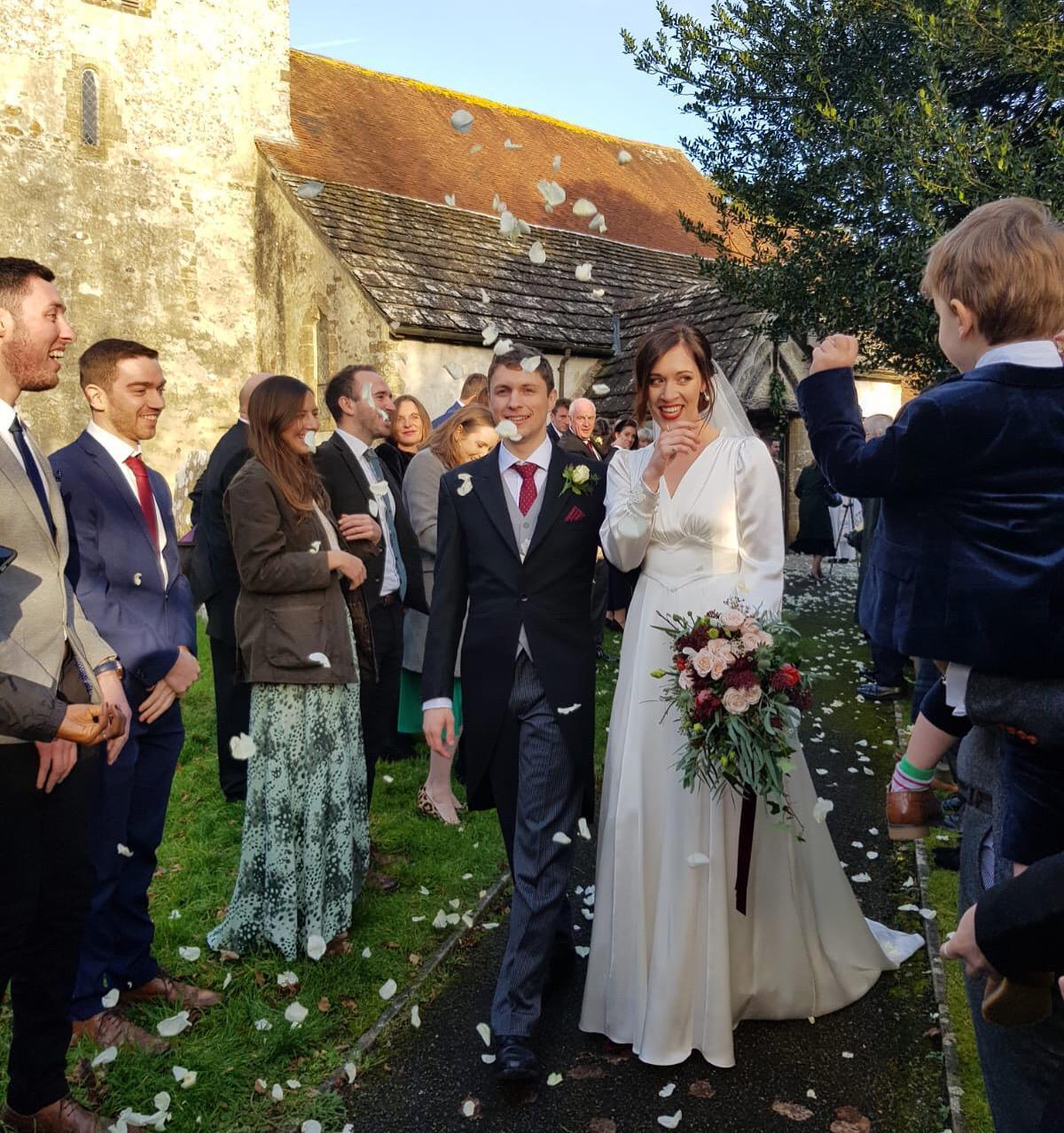Heavenly Vintage Brides real bride Sophie