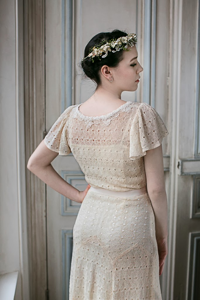 1930s wedding dresses, 'Daisy', c Heavenly Vintage Wedding Blog