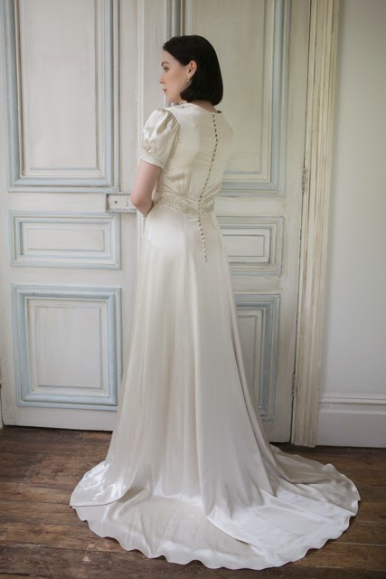 1940s style wedding dress, Florence - original version