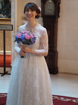 HVB vintage wedding blog, Real Vintage Brides feature - Clare in 1950s lace wedding dress