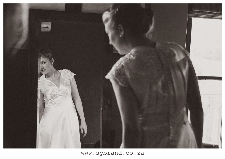 Vintage bride Sarah tries on her 1930s wedding dress