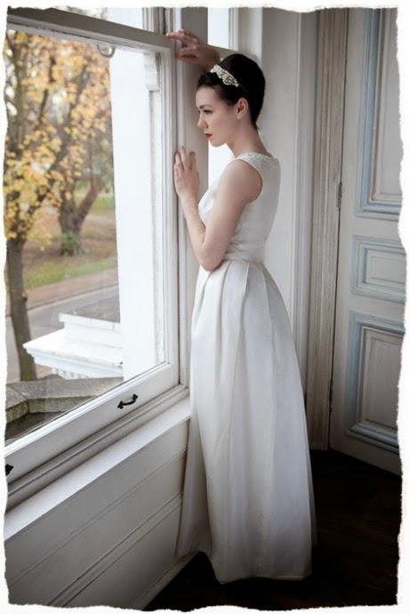 Jackie O style 1960s wedding dress, c HVB vintage wedding blog 2013