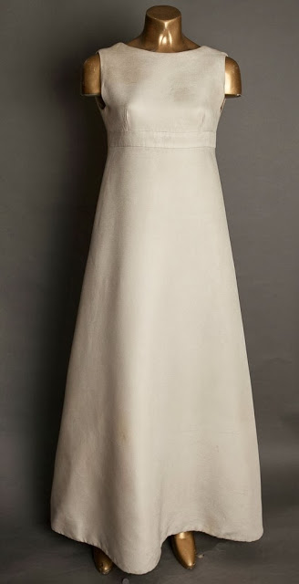Christian Dior 1960s wedding dress, full length image c. HVB vintage wedding blog 2013