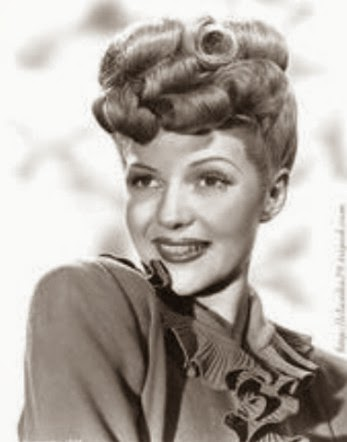 Heavenly Vintage Wedding Blog, hair to complement a 1940s wedding dress - Lucille Ball