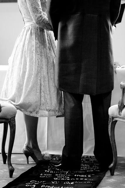 Real vintage wedding, 1950s vintage wedding dress c Heavenly Vintage Brides